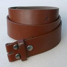 black brown plain leather belt strap snap on