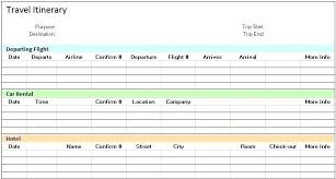Group Travel Itinerary Template Best Of Trip Planner Office
