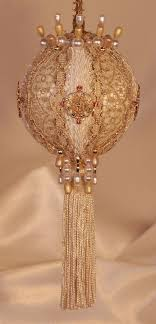 Exquisitely Handmade Ornaments - Vintage Style Ornaments - Unbreakable  Ornaments. Gold Christmas DecorationsVictorian ...