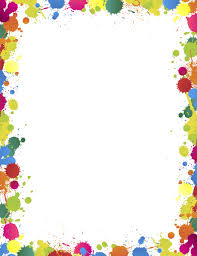 Rainbow Page Border Paint Splatter Border Clip Art Page Border And Vector Graphics