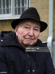 WWII veteran Alexander Shabunin is seen during a celebration on ...