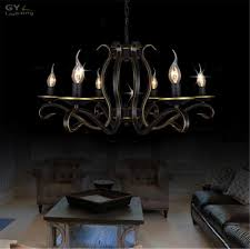 ac100 240v european candle chandelier re american country home living room chandeliers light wrought iron metal hanging lamp wooden chandeliers bubble