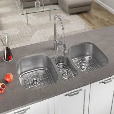 4521 Triple Stainless Steel Kitchen Sink Ensemble Interior Design