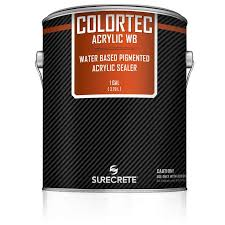 1 gallon colored water based outdoor concrete paint and sealer colortec acrylicwb