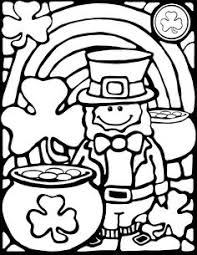 Small Picture FREE pattern filled shamrock coloring sheet Try out this sample