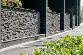 exterior stone veneer retaining wall. charcoal stacked stone panels used on commercial retaining wall exterior veneer s
