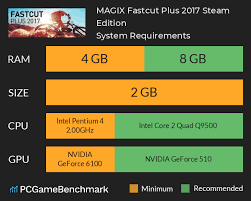 Fastcut Tool Chart Magix Fastcut Plus 2017 Steam Edition System Requirements