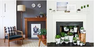 Ideas Filling Empty Fireplace - landscape fireplace ideas