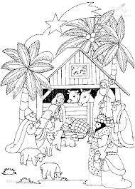 1001 Kleurplaten Kerst Jezus Kleurplaat Kribbe Jezus
