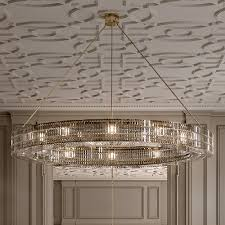 contemporary designer round crystal chandelier