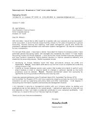 Senior Accountant Resume Cover Letter