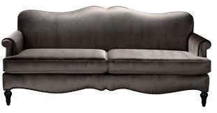 Woodbury Camelback Sofa, Gray traditional-sofas