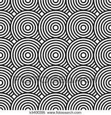 白黒 抽象的 背景 で 円 クリップアート切り張りイラスト絵画集