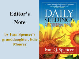 Daily Seedings: Editor's Note : The Pneuma Review