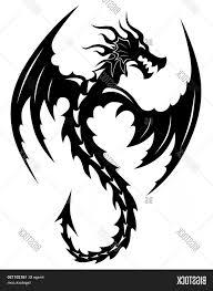 Stock Vector Tattoo Tribal Dragon Tribal Tattoos Art Tribal Tattoo