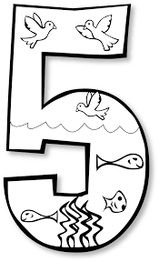 Number 5 Coloring Page Getcoloringpagescom