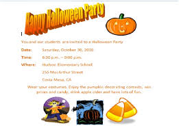 Class Party Invitation Word Happy Halloween Party Invitation Barbara Barone Teaching Blog