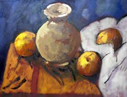 a still life in the style of cezanne in oils by artist lucy somers oil painting lessonsart