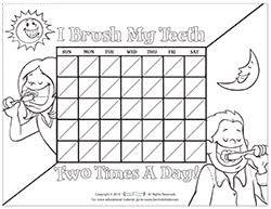 Motivational Charts For Children On Brushing Teeth