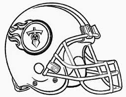 Football Helmet Coloring Pages Blank Clip Art Library