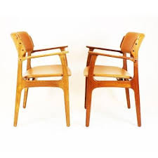 brown leather dining room chairs mid century model 49 dining chairs by erik buch for od