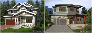 Modern Craftsman Style Homes Two 3d Renderings Of A House One Craftsman And One Modern