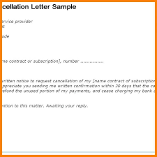 Cancel Notice Notice Of Cancellation Contract Template Planet