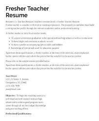 Faculty Resume Samples Preschool Teacher Curriculum Vitae Sample