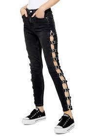 Jamie Side Buckle High Waist Skinny Jeans