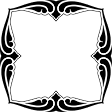 mirror clipart black and white. black mirror framework clipart and white