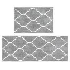 microfiber bath rug set 2 piece non slip absorbent bath mats runner set for bathroom gy bathroom rug runner machine washable 26 x18 48 x18