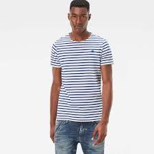 Hudson Designer Shirts G Star Designer G Star Xartto R T Shirts Milk Hudson Blue