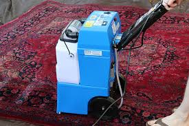cleaning a vintage rug with a al carpet cleaner