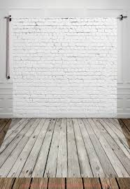 white wood floor background. Photography Digital Printed Backdrop White Brick Wall With Gray Wooden Floor Background For Photo Studio Shoot Wood B