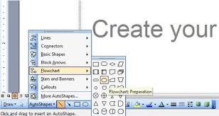 flowchart in word programming steps how to draw flowchart in word 2003 2007 and 2010