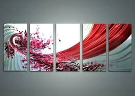 sensual wall art black and red wall art 5 panel abstract concept sensual wall art metal unframed red and white paintings five panels stunning black n red