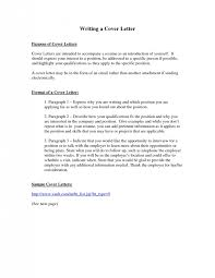 Cover Letter Format For Resume Gorgeous Cover Letter Writing Cool A Cover Letter For A Resume Sample