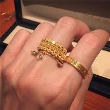 domestic spot golden ring jingjing dubai 22k gold sujin openwork lace design