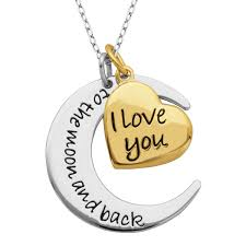 paj sterling silver and gold plated i love you to the moon and back pendant canada