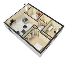 3d 2 bedroom floor plans