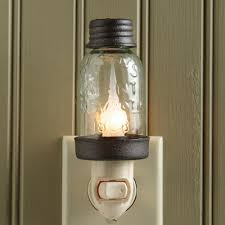 jar lighting. Mason Jar Night Light Lighting