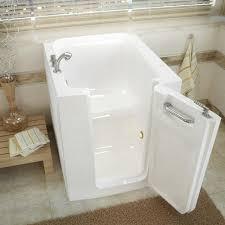 meditub 38 w x 32 d white soaking walk in bathtub right