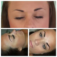 permanent eyebrows before and after