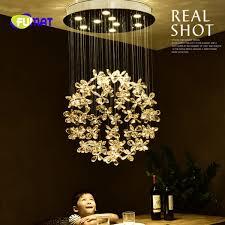 fumat modern living room pendant lamp flower re crystal pendant light round led ceiling lamp light for bedroom restaurant malaysia