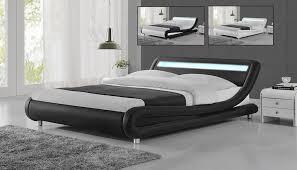 Modern low bed Infinity Details About Modern Designer Led Headboard Low Bed Frame Single Double King Size Black White Ebay Modern Designer Led Headboard Low Bed Frame Single Double King Size