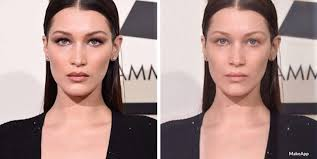 this app shows you what celebrities look like without makeup