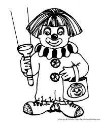 halloween costumes coloring pages halloween costume coloring pages halloween clown costume