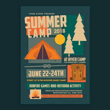 Summer Camp Flyer Template For Free Download On Pngtree