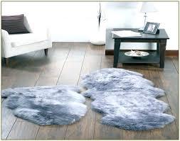 grey sheepskin rug faux home design ideas within gray light lo gray new sheepskin rug