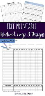 Free Printable Workout Logs 3 Designs For Your Needs